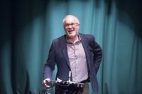 Rugby writer Eddie Butler telling a good yarn