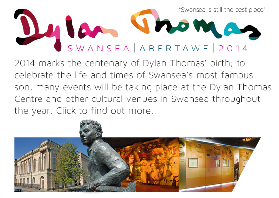 dylan thomas centenary 2014 promotional slide