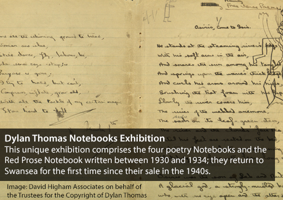dylan thomas notebooks exhibition
