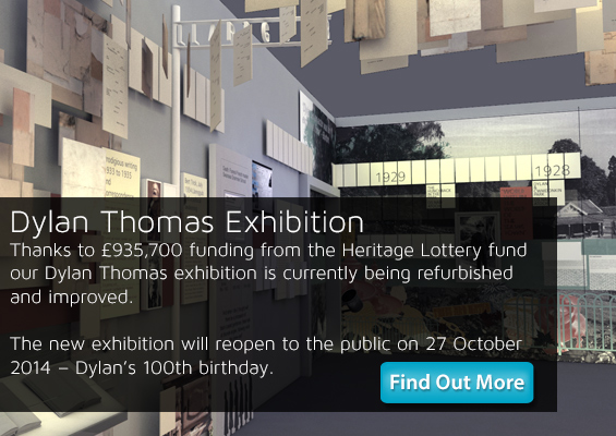 dylan thomas exhibition slide