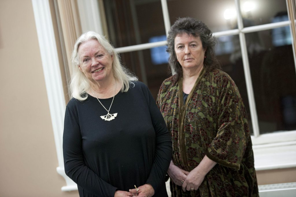 Carol Ann Duffy and Gillian Clarke at Dylan Thomas Centre in Swansea for readings and book signing.